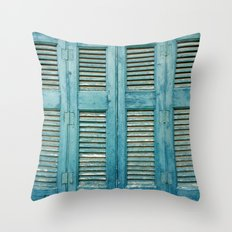 Sagging Shutters Throw Pillow