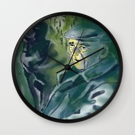 Old and dog Wall Clock