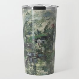 Paul Cézanne - At the Waters Edge - French Postimpressionist Fine Art - Cezanne Travel Mug