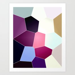 geodesic mini Art Print
