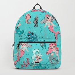 Babydoll Mermaids on Aqua Backpack