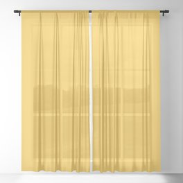 Valspar America Field of Daisies Orangish Yellow 3003-1B Solid Color Sheer Curtain