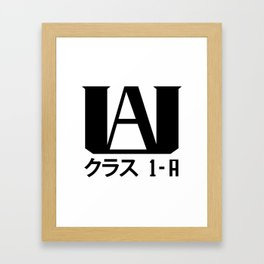 U.A. High (My Hero Academia) Framed Art Print