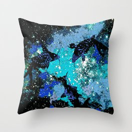 Koi In A Pond of Stars Throw Pillow
