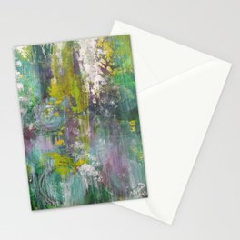 """""""Winter Grapes"""" Surreal Abstract Acrylic by Noora Elkoussy Stationery Cards"""