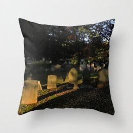 Headstones in a Fall Sunset Throw Pillow