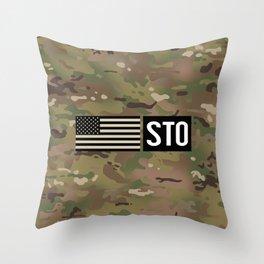 STO (Camo) Throw Pillow