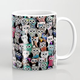 Gemstone Owls Coffee Mug