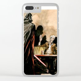 Keep calm and shoot first Clear iPhone Case