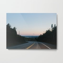 We long for journeys and the roadside | canada - ontario - road - landscape - travel - photography Metal Print