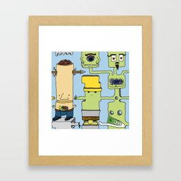 Spaghetti monster Framed Art Print