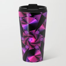 Abstract 344 a berry and black kaleidoscope Metal Travel Mug