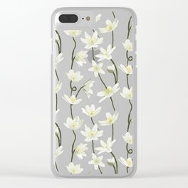 Anemone - Grey Clear iPhone Case
