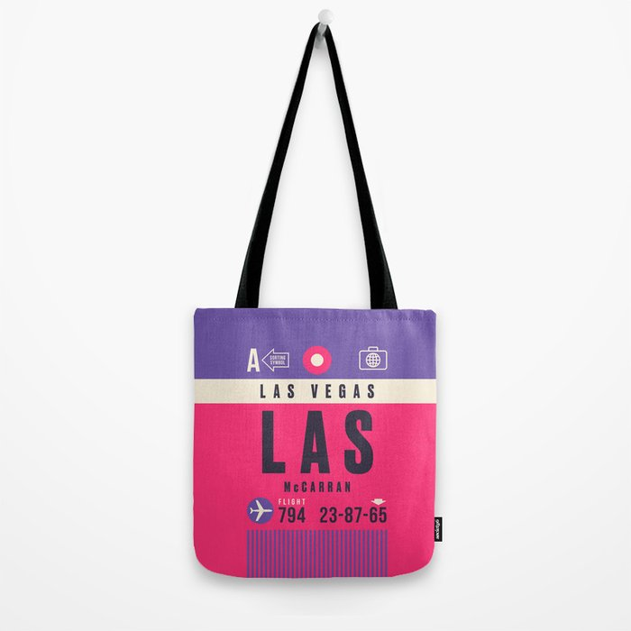 Luggage Tag A - LAS Las Vegas McCarran Nevada Tote Bag