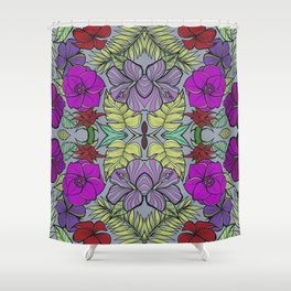 Psychedelic Spring Shower Curtain