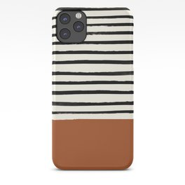 Burnt Orange x Stripes iPhone Case