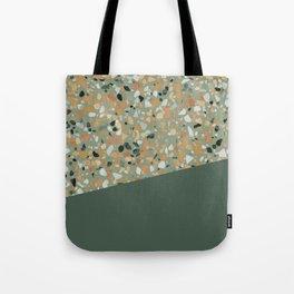 Terrazzo Texture Military Green #4 Tote Bag