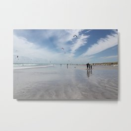 Windy days on the beach- travel photography- Cape Town Metal Print