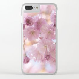 Pink Spring Cherry Blossom Clear iPhone Case