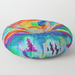 Misty Morning Floor Pillow