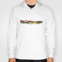 finland Hoodies featuring Helsinki city panorame, Finland by jbjart