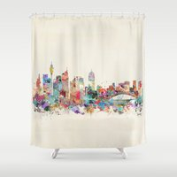 sydney Shower Curtains featuring sydney australia by bri.buckley
