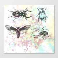 bugs Canvas Prints featuring Bugs! by Maria Enache