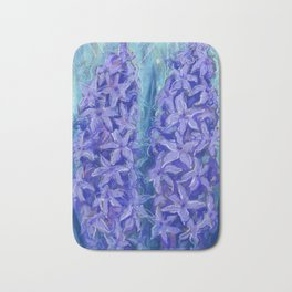 Hyacinths, violet version Bath Mat
