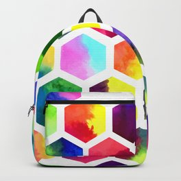 Rainbow Hexagons Backpack