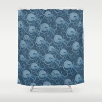 army Shower Curtains featuring Octopus Army by Brady Dempsey
