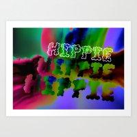 hippie Art Prints featuring Hippie by Retro Made