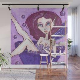 Purple Fairy grape fizz Wall Mural