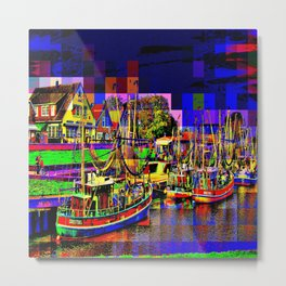 In the port Metal Print
