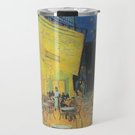 Cafe Terrace at Night by Vincent van Gogh Travel Mug