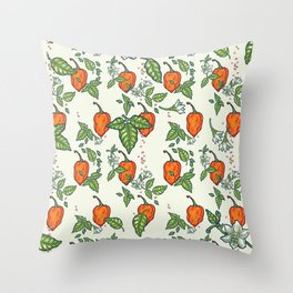 hot habanero Throw Pillow