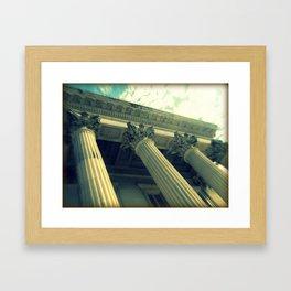 Marble Pillars Framed Art Print