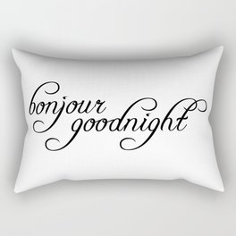 bonjour goodnight Rectangular Pillow