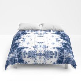 Shibori Tie Dye 5 Indigo Blue Comforters