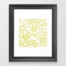 Watercolor Circle Ochre Framed Art Print