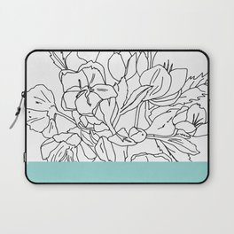 VESSEL - Floral Ink in Mint Green - Cooper and Colleen Laptop Sleeve