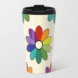 Flower pattern based on James Ward's Chromatic Circle (enhanced) Travel Mug