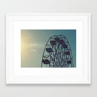 coasters Framed Art Prints featuring Adventure is Waiting by RDelean