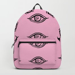 Evil Eyes Pink #1 #drawing #decor #art #society6 Backpack