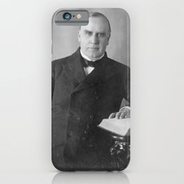Vintage President William McKinley Photograph iPhone Case