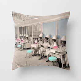 Women in Salon Throw Pillow