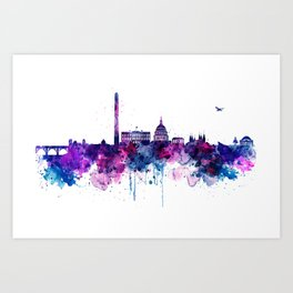 Washington DC Skyline Art Print