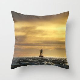 Lonely Buoy Throw Pillow