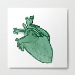 Lark Heart: Green Metal Print