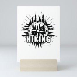 Hiking Mini Art Print
