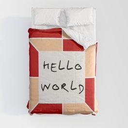 hello world 3 Comforters